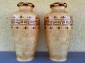 Jarrones segmentados de madera de Pino y Sapely