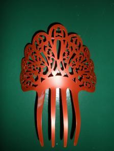 Ref. CA4118 - Peineta de Acetato Rojo