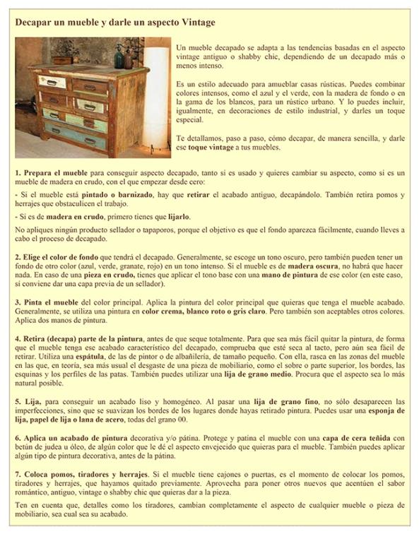 BricoDecora - Enero 2014       Decapar un Mueble